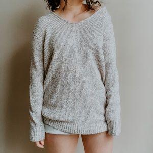 LOFT • marled oversized slouchy v neck sweater p8